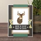Gina Marie clear unmounted cling stamp set Deer layered set