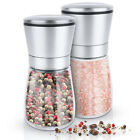 Salt and Pepper Grinder Set Ceramic Mills Stainless Steel Shakers Spice Mill NEW