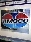 Old American Oil Co (AMOCO) Two Sided Lighted Up Sign -5' X 8'