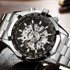 Luxury Automatic Men Stainless Steel Watch Skeleton Mechanical Wristwatch Gifts
