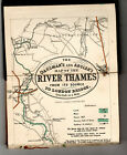 Oarsman's & Angler's Map of the River Thames. Edward Stanford. Coloured C1900-20