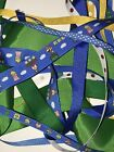 MARIO Grosgrain Mixed Ribbon Set 8 Yards Green Blue Yellow Red 1 Yd of Each