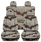 Fits 1990-2002 Toyota 4 Runner Front Rear Camouflage Car Seat Covers