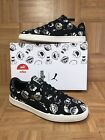 RARE Puma Basket Sesame Street Faces Mens Sneakers Sz 105 Black White Laced