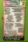 Ranger Dylusions Quote Medley Clear Stamp Stencil Messages Sayings Phrases 5847