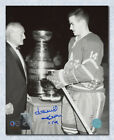 Dave Keon Toronto Maple Leafs Autographed Black & White Stanley Cup 16x20 Photo