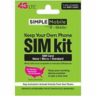 Brand New Simple Mobile Keep Your Own Phone 3 in 1 Prepaid SIM Kit