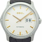 EBEL Classic Hexagon Mens Automatic Silver Dial Wrist watch 1216009 Excellent+++