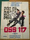 1968 French Pas de Roses Pour OSS 11--James Bond 007 Style Knock-off Poster
