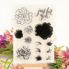 Flower puzzles Transparent Silicone Rubber clear stamps Scrapbook DIY cards