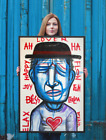 NEO Street Art Graffiti Print Urban Vertical Poster Wall Pop Spray FACES