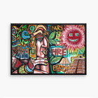 NEO Street Art Aztec Mayan Graffiti Print Urban Abstract Modern Poster Wall Sun
