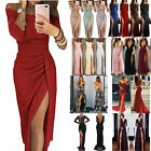 Women High Slit Evening Dress Party Cocktail Formal Ball Gown Prom Maxi Dresses