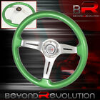 For Bmw Green Wood Trim Aluminum Center Steering Wheel 3 Spokes Jdm R Horn
