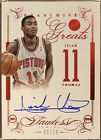2013-14 Flawless Franchise Greats Ruby ISIAH THOMAS SSP Auto 15 Detroit Pistons