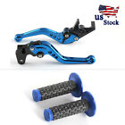 Brake Clutch Lever + Hand Grips For Suzuki Katana GSX600F /750F 93-06 SV650/S US