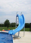 Inground swimming pool slide