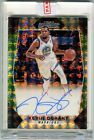 Kevin Durant Gold Holographic Auto Camo Prizm Mosaic 7 25 Autographed GSW Jersey