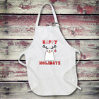 Personalized Happy Holidays Full Length Apron with Pockets