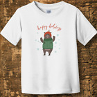 Personalized Happy Holidays Toddler Fine Jersey Tee