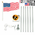 25 FT Heavy Duty Flag Pole Inground Residential Flagpole Kit  US American Flag