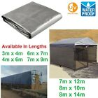 Heavy Duty Waterproof Tarp Tarpaulin Sheet Dog Run Hay Bale Cover Pet Enclosure