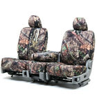 Custom Fit Seat Cover For Toyota Tacoma In Mossy Oak Front Rear