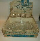 Vintage Federal Glass Company Snack Set Plates Cups 4 sets in box Free Shipping!