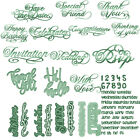 Oblique fonts Numbers Words Cutting Dies Stencil Scrapbook Embossing Gifts Card