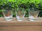 Federal Glass MCM Cocktail Low Ball Glasses Starburst Atomic Style Set of 3