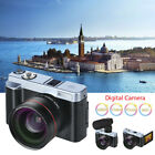 Full HD 1080P Digital Camera Telephoto Lens Camcorder WiFi Rotation Flip Screen