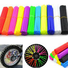 Motocross 36/72pcs Spoke Skins Covers Dirt Bike Wheel Rim Guard Protector Wraps