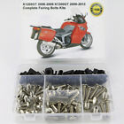 For BMW K1200GT 2006-2009 K1300GT 2009-2013 Complete Fairing Bolts Kit Silver