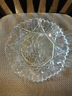 Vintage Federal Clear Glass Pioneer Fruit Console Bowl Crimped Saw-toothed (2)