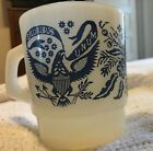 Anchor Hocking Fire King E.PLURIBUS UNUM EAGLE Mug Milk Glass Milkglass