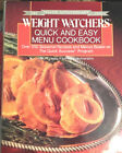 Weight Watchers Quick  Easy Menu Cookbook Silver Anniversary 1963 1988 Edition