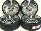 20 WHEELS RIMS TIRE SET FIT BMW F12 M6 M DOUBLE SPOKE 343 20 M5 M4 W 2453020 Z