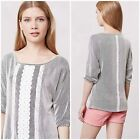 NWT ANTHROPOLOGIE LACE PATHWAYS DOLMAN by Twig and Perch size small