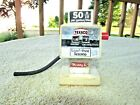 BUDDY L TEXACO 1970'S AUTO ACTION MECHANICAL PLASTIC TOY GAS PUMP .50 cents
