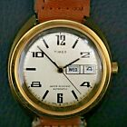 Running Vintage Timex 4886 03376 Gold Tone Automatic Watch