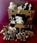 Vintage 1990s Boyds Bears Noahs Ark and 14 Sets Of Animals With Tags -