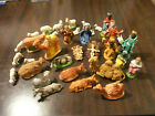 35 piece Nativity Figures made in Italy over 50 years old chalkware plaster