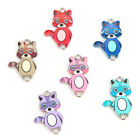 Colorful Enamel Little Bear Charm Connector Pendant DIY Jewelry Accessory 10Pcs