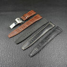 Four colors amazing quality 21mm deployment clasp leather strap band for IWC