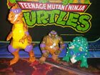 1993 Tmnt Cave Turtle Don with Trippy Tyrannosaurus andDingy Dino