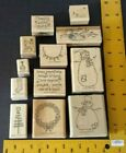 Stampin Up Stamp Set THANKS SNOW MUCH Christmas Snowman no case wrong snowflake