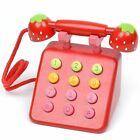 Baby Toys Strawberry Wooden Telephone Toys Children Wooden Toys Play House Birth