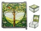Ebros Louis Comfort Tiffany Northrop Tree of Life Stained Glass Art Jewelry Box