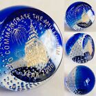 Rare Signed Scottish Caithness Millennium London Glass Paperweight 591g