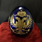 FABERGE BOHEMIAN IMPERIAL CUT CRYSTAL PAPERWEIGHT ELEGANT HAND BLOWN GLASS EGG